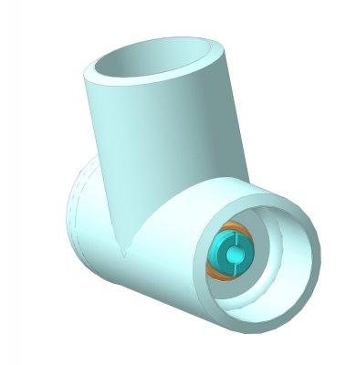 Штуцерная камера ШК 100х14-01, 3D модель, общий вид